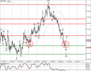 NZD/CAD reversed from support zone