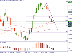 USD/ZAR: there's more to come