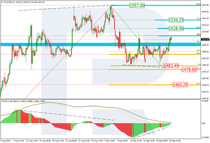 Fibonacci Retracements Analysis 23.09.2019 (GOLD, USDCHF)