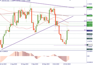 USD/CAD returned to resistance